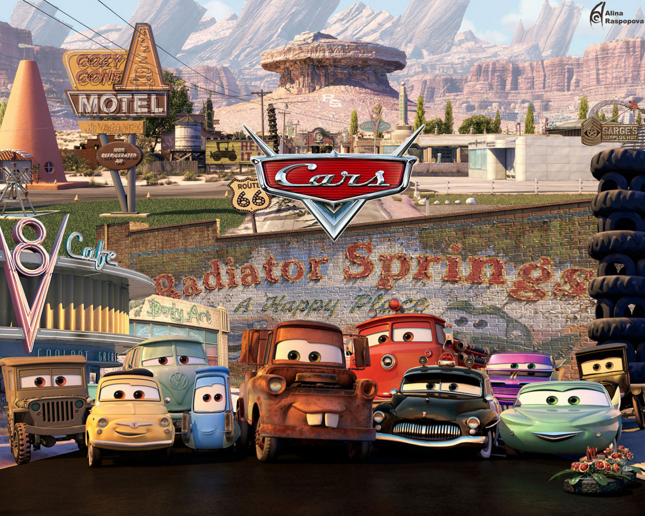 Download movie cars wallpaper cars 2